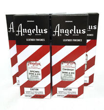 Angelus Leather Shoe, Boot Shine & Dye with Applicator- 3 Colors- NEW!