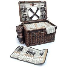 Wicker Picnic Basket Set for 4 w Blanket  The Enchanted Evening Collection