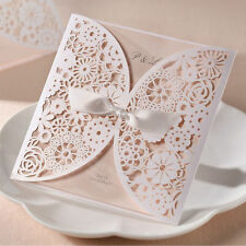 DIY Wedding Invitations/ Laser Cut /Lace Effect / Blank Cards and Envelopes