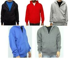 Men's Premium Full Zip Up Hoodie Classic Zipper Hooded Sweatshirt Cotton Soft