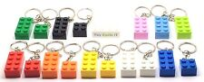 Lego Brick 2x4 & 2x2 Key Ring  Key Chain - Choose Brick Colours - Job Lot NEW