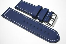 Darlena leather watch strap. 5mm thick yet supple, lined, rubber coated