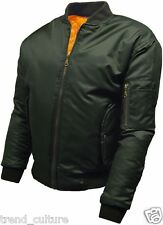 "MENS WOMENS MA1 FLYING BOMBER PILOT MILITARY BIKER ARMY SECURITY ""MODS"" JACKET."