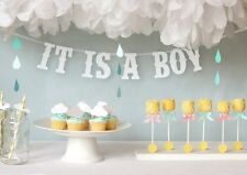 IT IS A BOY Banner Party Decoration Bunting Garland Western Handmade