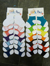 Sock-ons pack of two pairs 0-6mths or 6-12mths keep baby socks on 2 pairs!!