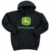 NEW John Deere Black Hoodie Sweatshirt S M L XL 2X 3X 4X JD