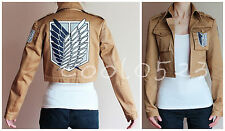 Attack on Titan Shingeki no Kyojin Training Camp Cosplay Costume Jacket Coat