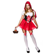 LADIES LITTLE RED RIDING HOOD SEXY STORYBOOK FANCY DRESS COSTUME XS-L PLUS