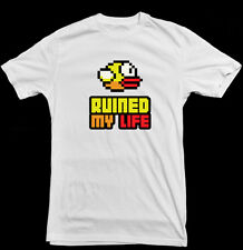 FLAPPY BIRD RUINED MY LIFE FLAPPYBIRD GAME MENS WHITE T SHIRT