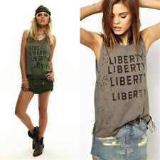 One Teaspoon - Liberty Distressed Harry Tank in Military