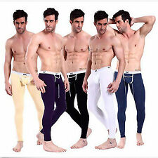 New Sexy Men's Thermal Long Johns Pants Low Rise Underwear Pocket Underpants Hot