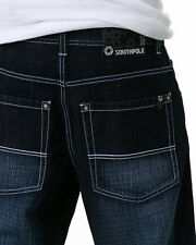 SOUTHPOLE 4187-1043 Big & Tall Mens Relaxed Fit Jeans DARK SAND BLUE pick size