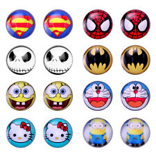 Cute Cartoon Assorted Color Wholesale Lot Round Stud Earrings, Safe for Kids