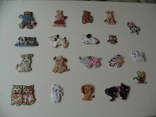 Various Embroidered Cute Animal Motifs/Embellishments/Toppers - List 2