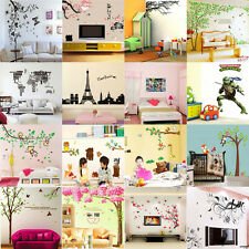 Wholesale Flowers Tree Butterfly Owl Quote Wall Art Decals Stickers PVC