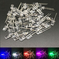 10 100 1000pcs 5mm 2pin Round white/pink/red/blue/green/uv/yellow LED lamp light