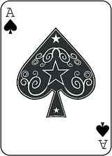 Ace of Spades Playing Card Vinyl Wall Art Sticker in 5 Sizes & 24 Colours