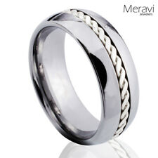 Tungsten Silver Celtic Braided Mens Women Braid Rope Wedding Band Promise Ring