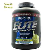 Dymatize Nutrition: ELITE WHEY PROTEIN - SMOOTH BANANA (5 lb) FAST SHIPPING