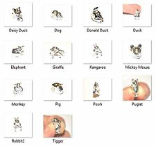 SILVER PLATED EUROPEAN CHARM PENDANT CARTOON ANIMAL BEAD - CHOOSE YOUR ANIMAL