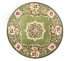 "Royal Palace Elegant Medallion 4'6"" Round Wool Rug H199865 CHECK ADD FOR COLORS"