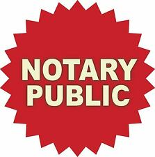 Notary Public Vinyl Sticker Decal Sign *3 SIZES*  Business Store