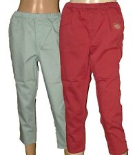 New Ex Evens Ladies Plus Size Capri Pants Cropped Trousers Stretch Red Mint