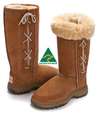 Hiking Tall / Long  Outdoor Lace Up Ugg Boots Laces Premium Australian Sheepskin