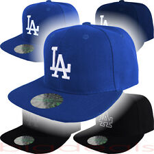 Los Angeles Dodgers Cap Fitted LA Logo MLB Hat Embroidered On Field Game Basic