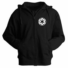 Geek Sci Fi Star Wars Imperial Officer Zip Up Hoodie Hooded Jacket S- XXL