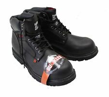NEW Buckler B200 S3 Safety Lace up Leather Work Boots Black - Size Choice