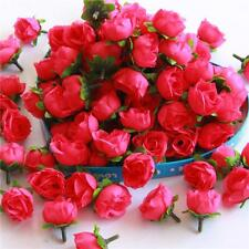 Roses Artificial Silk Flower Heads Wholesale Lots Wedding Decor Rose Red 100pcs