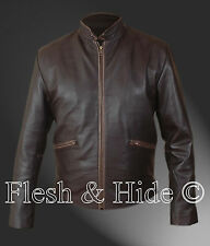 Tron Legacy Sam Flynn Jacket in Vintage Brown