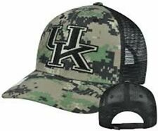 Kentucky Wildcats NCAA Camouflage Embroidered Logo Mesh Back Baseball Hat Cap