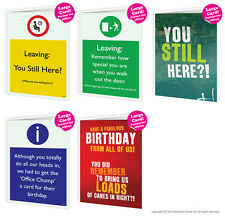 Brainbox Candy Large Big Size Office Work Job Cards Leaving Birthday Funny Rude