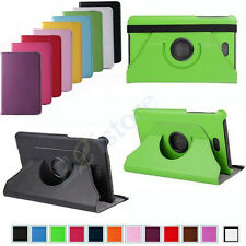 "FOR 8"" DELL VENUE 8 PRO WIN 8.1 STAND 360° ROTATING LEATHER CASE COVER HOLDER"