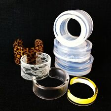 CUFF MOLDS! CLEAR SILICONE RUBBER MOLD FOR OPEN CUFF. CREATE YOUR OWN BRACELET!