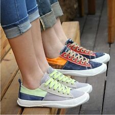New Fashion Korean Men's Wome's Mixed-color Lace Casual Shoes Canvas Shoes C516