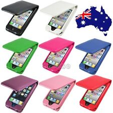 Leather Flip Pouch Case Cover For Apple iPhone 4S 4