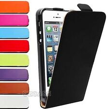 Genuine Leather Slim Leather Flip Case Cover For Apple iPhone 4S 4