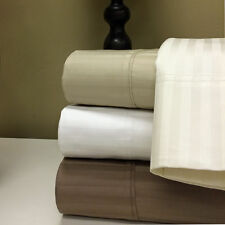 1500 Thread Count 100% Egyptian Cotton Damask Stripes 4pc Sheet Set