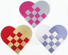 Hopefish Children's Craft:  Make Woven Paper Heart Decorations: Kits for 6 or 30