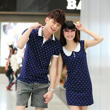 Fashion  Women men Doll collar  for summer clothes  Lovers couple T-shirt dress