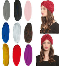 Stretchy Turban Head Wrap Band Chemo Bandana Hijab Pleated Indian Cap