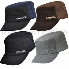 Authentic Mens KANGOL Textured Wool Flexfit Army Cap Hat K0471FA