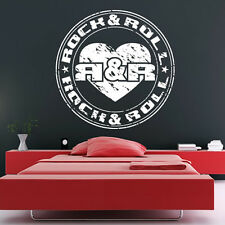 Rock And Roll Badge Wall Sticker Music Wall Decal Art