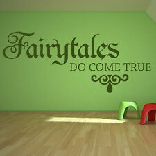 Fairytales Do Come True Wall Sticker Children's Bedroom Wall Decal Art