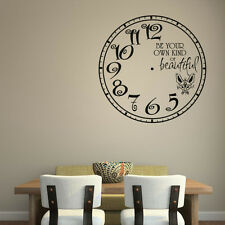 Be Your Own Kind Of Beautiful Clock Wall Sticker Children's Bedroom Wall Decal A