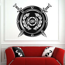 Sword and Shield Wall Decal Art Sticker Wall Decals