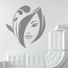 Floral Portrait Wall Sticker Female Wall Decal Art